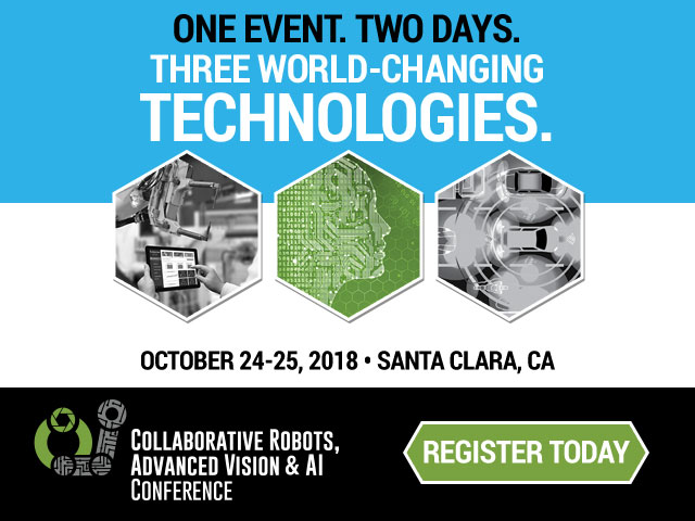Collaborative Robots, Advanced Vision and AI Conference